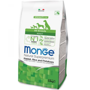 MONGE ALL BREEDS CANE ADULT MONOPROTEICO CONIGLIO E RISO E PATATE