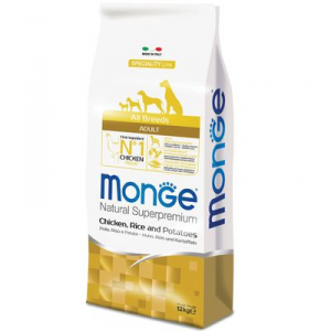 MONGE ALL BREEDS CANE ADULT MONOPROTEICO POLLO RISO E PATATE