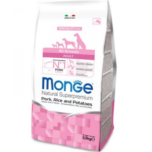 MONGE ALL BREEDS CANE ADULT MONOPROTEICO MAIALE RISO E PATATE