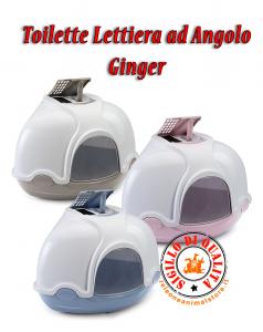 Toilette Lettiera per gatti ad Angolo Ginger Imac