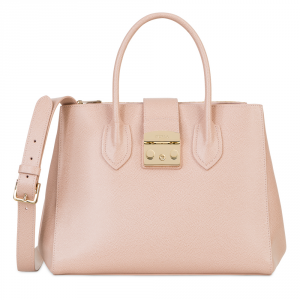 Hand and shoulder bag Furla METROPOLIS 908095 MOONSTONE
