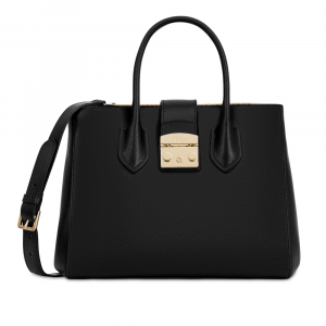 Hand and shoulder bag Furla METROPOLIS 908102 ONYX