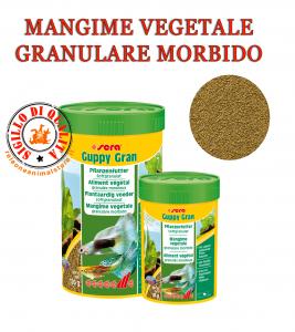 Sera Guppy Gran Mangime per pesci Vegetale granulare morbido