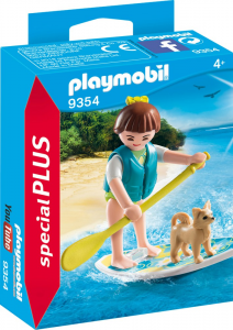 PLAYMOBIL RAGAZZA CON STAND UP PADDLING 9354