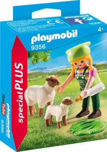 PLAYMOBIL RAGAZZA CON PECORA E AGNELLINO 9356