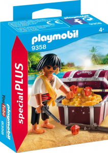 PLAYMOBIL PIRATA CON SCRIGNO DEL TESORO 9358