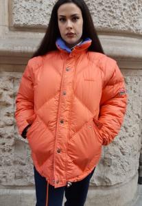 vintage puffer jacket Multicolor diadora reversibile