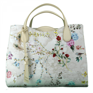 Hand and shoulder bag Alviero Martini 1A Classe FLOWER GARDEN GI84 9472 900 BIANCO