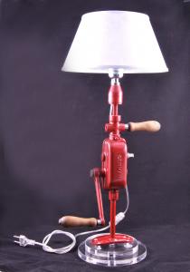 Lampada Trapano Rosso vintage industriale