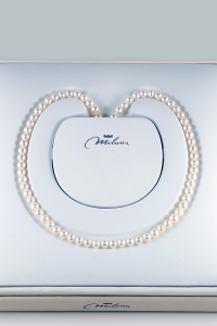 Collana Miluna Perle Naturali Oro Bianco 18 kt
