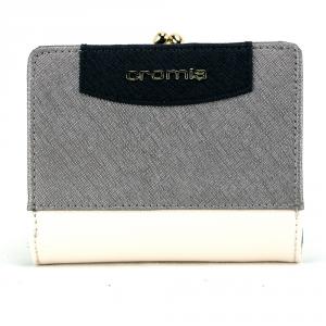 Woman wallet Cromia IT SAFFIANO 2690649 BEIGE+ACCIAIO
