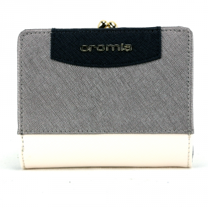 Woman wallet Cromia IT SAFFIANO 2690649 BEIGE+ACCIAIO