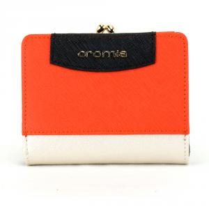 Woman wallet Cromia IT SAFFIANO 2690649 PLATINO+VERMIGLIO