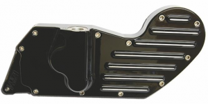 04- XL cam cover with electronic ignition, black powder coated