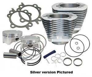 Cylinder,Kit,4 Bore,4-3/8 Stroke,110,Black Wrinkle