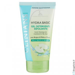 Clinians Hydra Basic Gel Detergente Esfoliante Pelli Miste E Grasse 150 ml