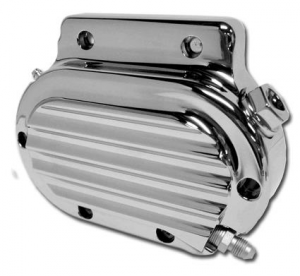 6-Speed Hydraulic Clutch Actuator Cover, Chrome Finned