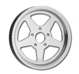 5 Spoke Rear Pulley 65-Tooth Chrome