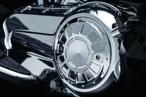 Bahn Clutch Cover Accent, Chrome