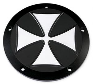 Black Derby Cover Cross 5-Hole