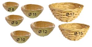 NIDO IN VIMINI            cliccare sulla foto per selezionare i diametri