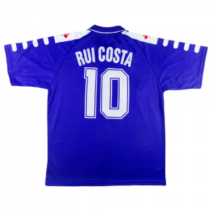 1998-99 Fiorentina Maglia Home #10 Rui Costa MATCH Issue XL  *Cartellino