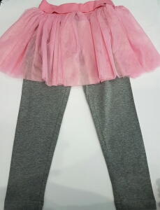 Gonna rosa con leggins da bambina tg 3-6anni