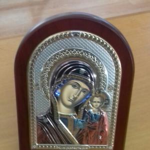 Icona sacra Valenti in argento Madonna con bambino vendita on line | BRUNI GIOIELLERIA