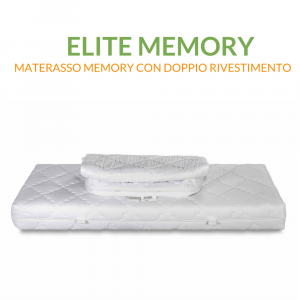 Materasso  Memory Matrimoniale 160x190 con doppia fodera | Materasso Elite Memory 160x190