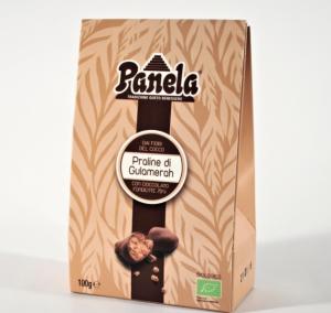 Praline di Gulamerah Bio ricoperte di cioccolato fondente 70% - 100gr