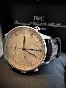 Orologio secondo polso IWC Portuguese Chronograph Rattrappante