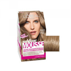 Loreal Paris - Permanent color Sublime Mousse -castano chiarissimo puro n.700