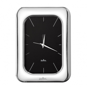 OROLOGIO DA TAVOLO 10X15CM SILVER COLLECTION FINESSE, ROSENTHAL