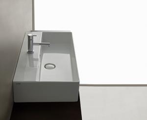 Lavabo sospeso per il bagno cm 71 x 37 T-Edge Globo