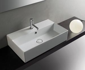 Lavabo sospeso per il bagno cm 61 x 37 T-Edge Globo