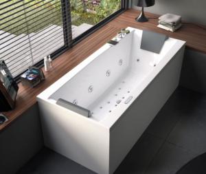 Vasca da bagno senza idro cm 170 x 75 Eden Glass