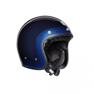Casco jet AGV Legends X70 E2205 MULTI TROFEO in fibra Blu