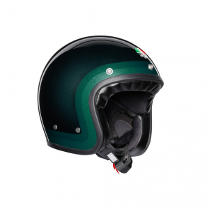 Casco jet AGV Legends X70 E2205 MULTI TROFEO in fibra Verde