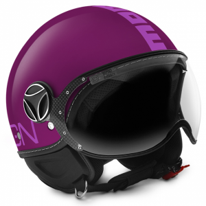 Casco jet Momo Design Fighter Classic Viola Opaco Rosa
