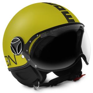 Casco jet Momo Design Fighter Classic Giallo Opaco Antracite