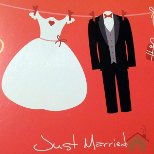 Set lenzuola matrimoniale Bassetti love is a couple just married