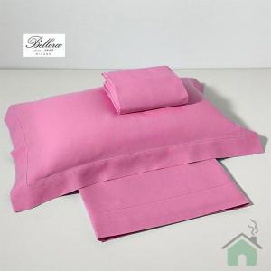Set lenzuola Bellora per letto matrimoniale in puro lino rosa VENTO