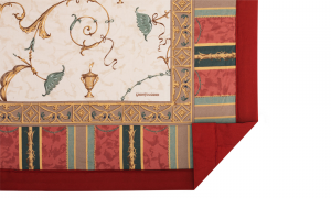 Bassetti PLAID GRANFOULARD OPLONTIS Bordeaux var.8 135x190cm
