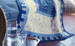 Bassetti PLAID GRANFOULARD OPLONTIS Blu var.9 135x190cm