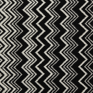 Missoni Home Tappeto da bagno Keith 60x170 bianco nero zig zag