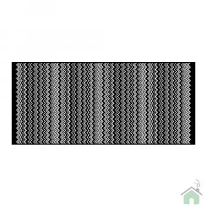 Tappeto bagno Missoni Home Bianco nero zig zag Keith 70 x 160
