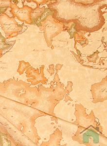 Alviero Martini Granfoulard Pangea puro cotone stampa cartina 270x280cm