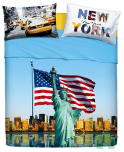 """Set copripiumino Bassetti """"American Dream"""" per letto singolo"""