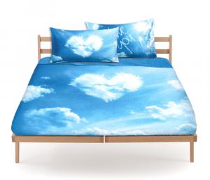 Set lenzuola Bassetti letto piazza e mezza LOVE IS A DREAM Nuvole in cielo