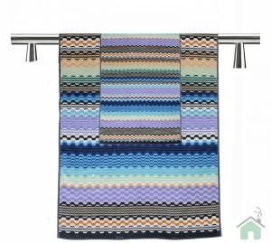 Set Asciugamani Missoni 1 asciugamano + 1 ospite LARA 170 blu multicolore